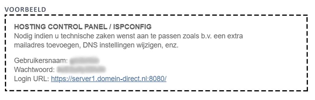 Wordpress plaatsen via ISPConfig - login gegevens